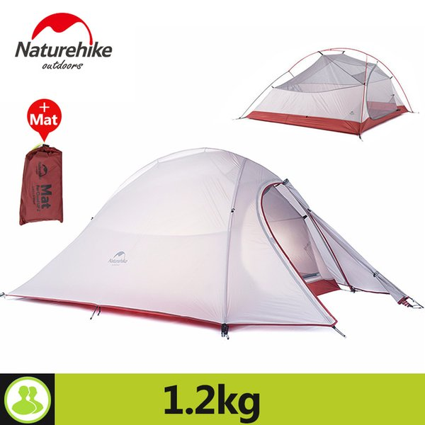 Naturehike 2 Person Camping Tent For Hiking Holiday 4Season 20D Silicone Fabric Double layer Rainproof Outdoor Camp Beach Tent