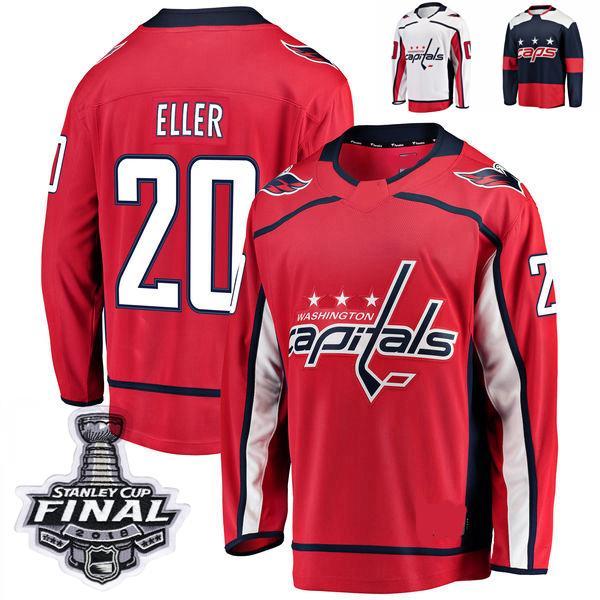 2018 Stanley Cup Final Washington Capitals Lars Eller Stitched Jerseys Customize Stadium Series 20 Lars Eller Hockey Jerseys