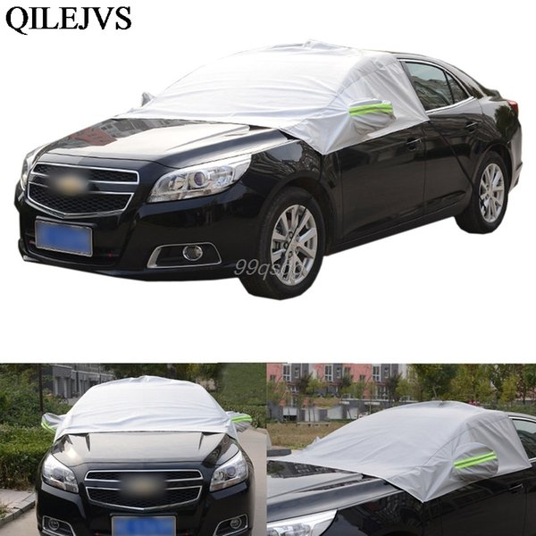 top popular Universal Car Half Covers Sunshade Styling Foil Waterproof Thicken Car Snow Shield Anti-UV Snow Protection Covers For Cars 2020