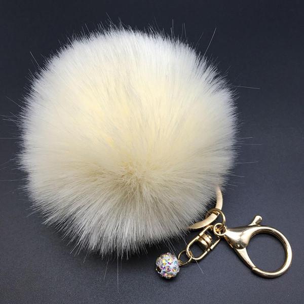 Mode Fausse Fourrure Fluffy Pompon Ball Voiture Pendentif Sac À Main Charme Sacs Décoration Ornement