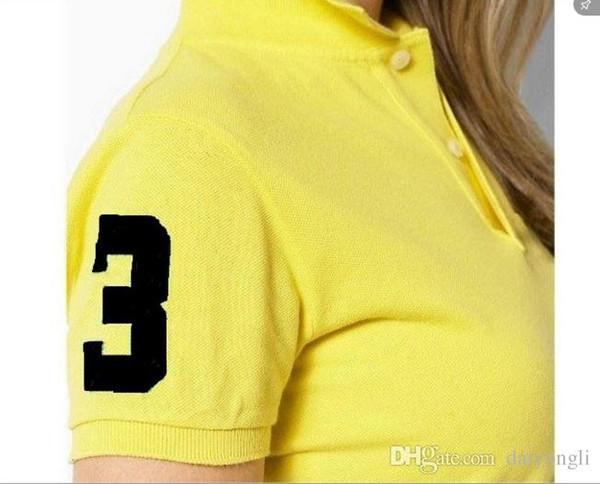 Nouveau printemps et été dame polo shirt revers brodé à manches courtes respirant Slim casual T shirt livraison gratuite