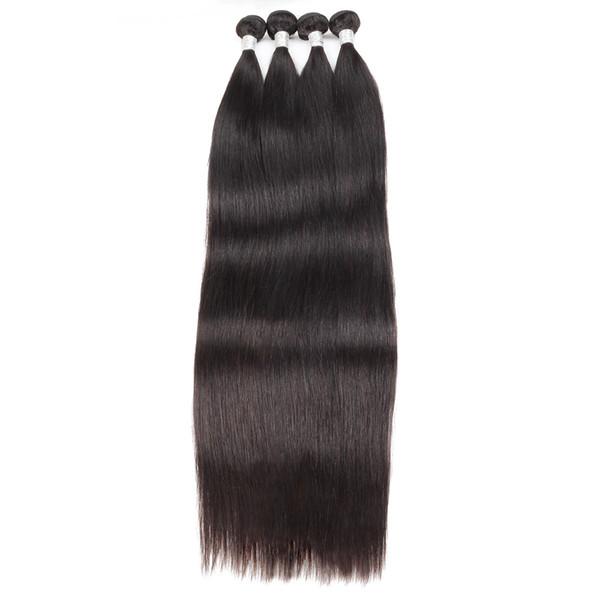 10A Brazilian Straight 1/4/5 Bundles Deals 30-38inch Unprocessed Brazilian Human Hair Extension Peruvian Remy Hair Straight Long Length