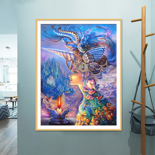 Lan New Pattern Diamonds Picture Magic Queen Cross Embroidery A Living Room Series Paste Picture Oil Painting Fully-jewelled