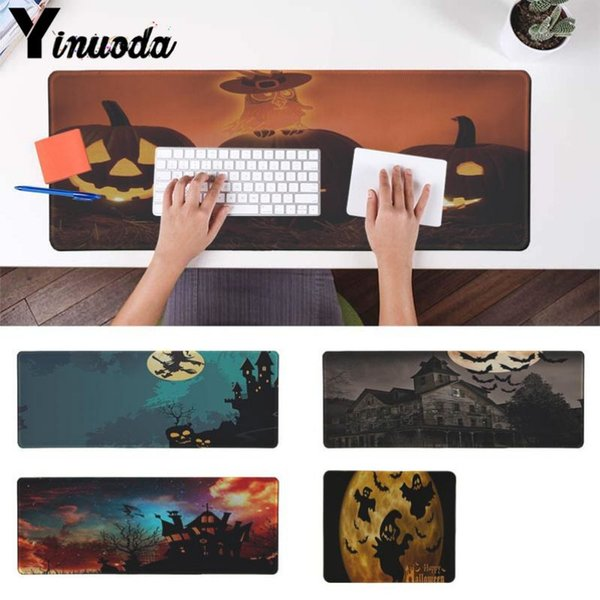 Yinuoda Custom Skin Happy Halloween Maßgeschneiderte Laptop Gaming Mauspad Edge Locking Speed ​​Version Spiel Tastaturpad für Gamer