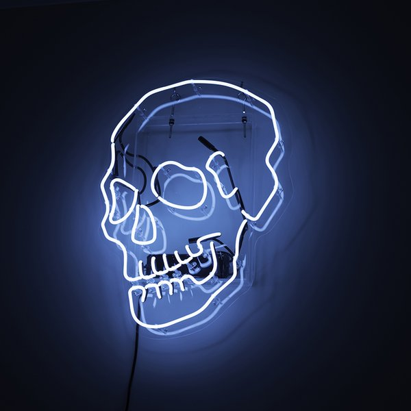 New Skull Neon Beer Sign Bar Sign Real Glass Neon Light Beer Sign New Blue Star Beer Bar Pub Real Glass Handmade Neon 24x20