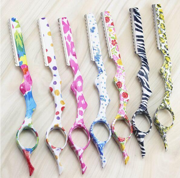 Blades Hair Trimmers Razors Steel Barber Shaving Hair Knife Blades Salon Hairdressing Cutting Tool Hair Razors ZZH