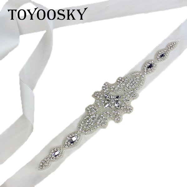 Rhinestone Wedding Women's Belts White Exquisite Handmade Bridal Belt Sash White Ribbon for Bride Bridesmaid Belt For Women Lady