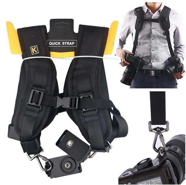 SLR Quick sling belts Quick Rapid shoulders Double SLR Camera Strap Neck Shoulder Belt Strap DSLR camera shoulder strap for Nikon Canon Sony