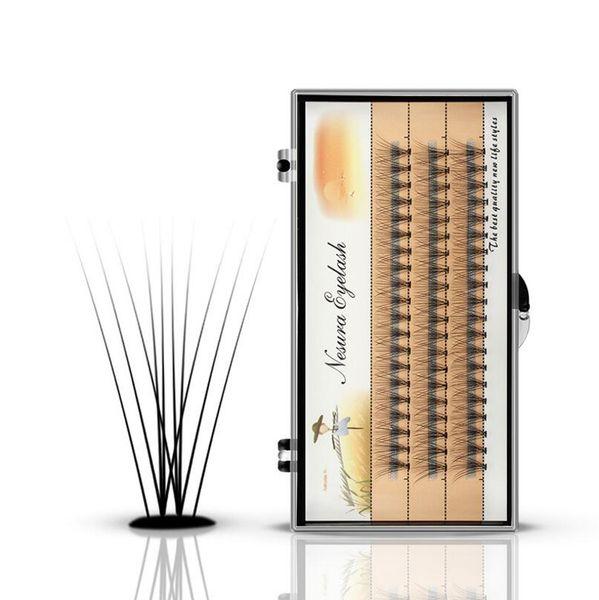 Корейская посадка ресниц прививка накладных ресниц Faux Mink Silk ресницы Flase Eyashash Natural Мягкие густые накладные ресницы для наращивания 10D