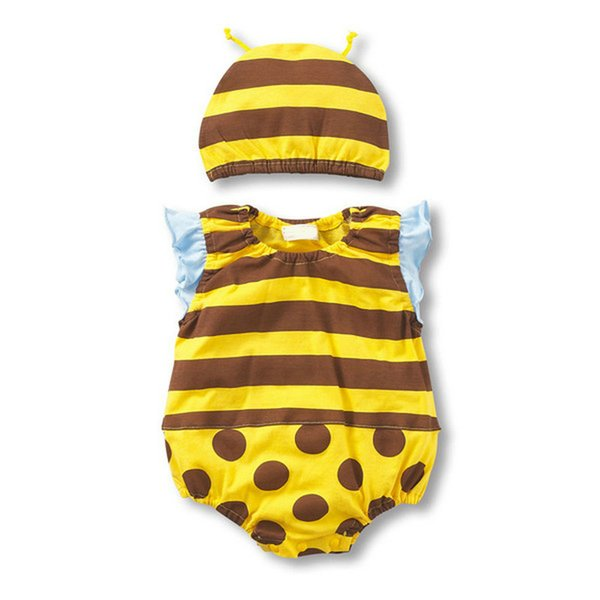 Gold Hands 2017 New Fruit Rompers Bee Strawberry Beetle Watermelon Navy Cow Animal Cosplay Cotton Babies Jumpsuits Girls Romper