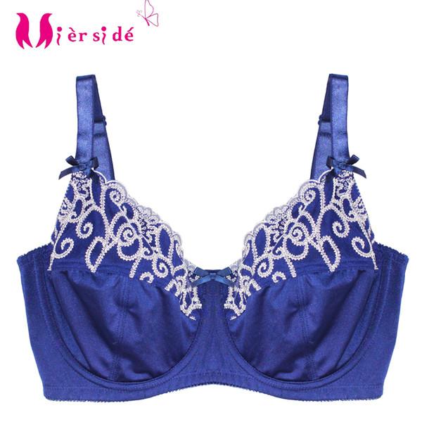 wholesale 1194 plus size bra push up bra for women blue lingerie Tops 34-42 DD/DDD/E/F/G