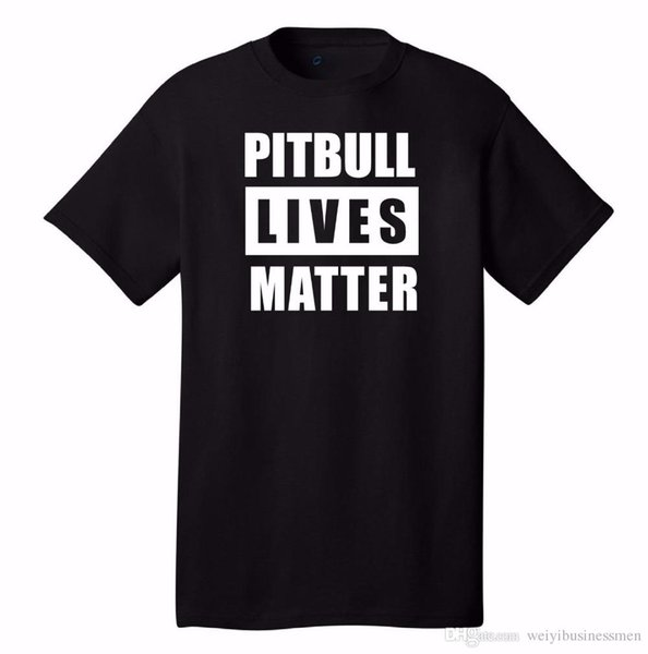 Pitbull Lives Matter T-Shirt Dog Lovers Puppy Staffordshire Terrier Bully Breeds Tshirt High Quality