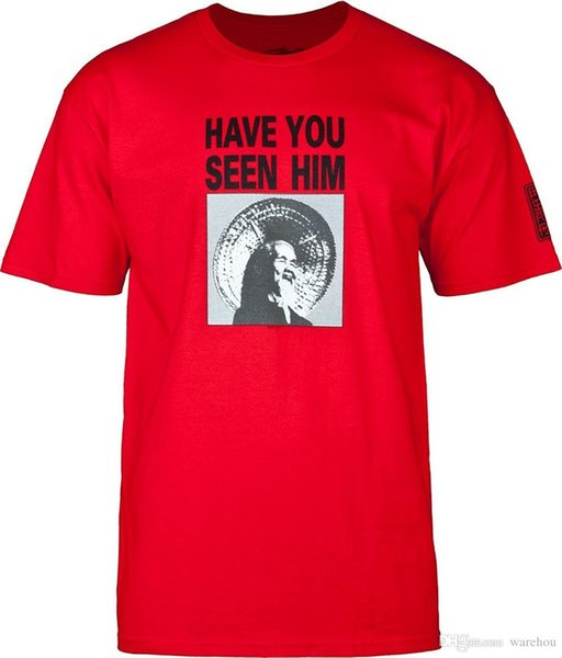 Novelty Design T Shirt Men Animal Chin Have You Seen Him? Red T-Shirt Cool Tops Short Sleeve Hipster Tees