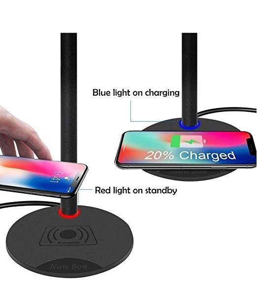 Qi Wireless Charging with Headphone stand Sturdy 2-in-1 Headset Holder Wireless Charger Pad for iPhone 8/8 Plus/X Samsung S8/S8 PlusS7