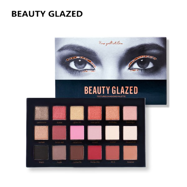 BEAUTY GLAZED Brand Eyes Makeup glitter Eye Shadow pallete Long lasting Easy Wear Natural Shimmer Matte Compact Pretty cosmetics
