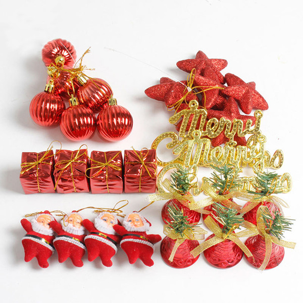 28pcs/pack Christmas Tree Baubles Balls Decor Ornament Home Christmas Decorations Gift Xmas Wedding Party Decoration