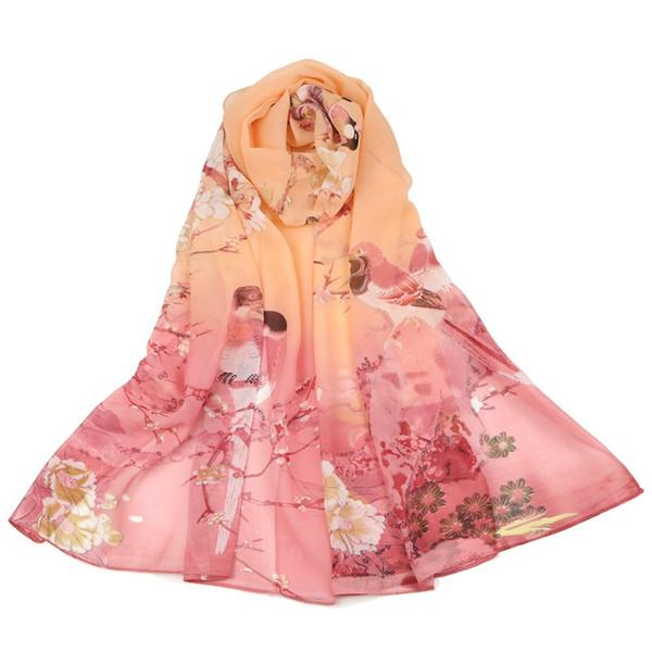 6 Colors Printing Artificial Silk Designer Scarf 160*50cm Women Hijab Shawls Pashmina Head Wrap Scarves Table Blanket Beach Towel