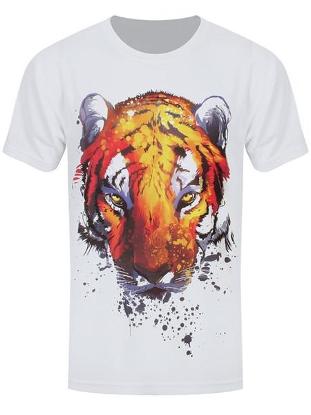 Unorthodox Herren T-Shirt Burning Bright Sublimation weiß Bedrucktes T-Shirt Herren Kurzarm O-Neck T-Shirts Summer Stree Twear