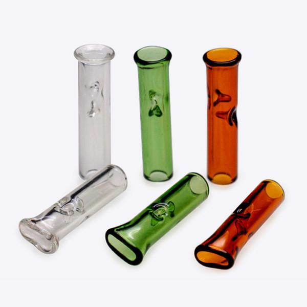 Cigarette tube filtre filtre en verre pointe de tabac Tabac pour Dry Herb Tobacco Feuilles À Rouler RAW Avec Tabac Porte-Cigarette Épaisse Verre De Smoki Smoki