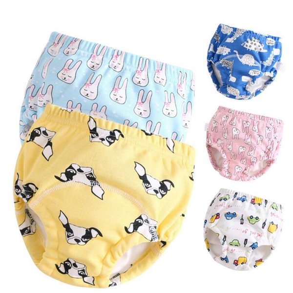 Latest 2018 Reusable Waterproof Baby Potty Training Pants Cloth Diaper Underwear Infant Learning Panties Gauze Soft Brief (5Pcs)
