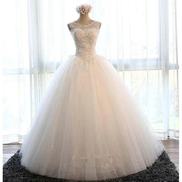 Hot Sale Amazing Luxury Lace Wedding Dresses Ball Gown 2018 With Off Shoulder Beaded Appliques Wedding Party Dress Bridal Gowns QC1012