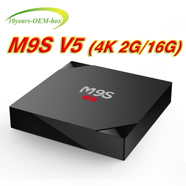 M9S V5 2G 16G Android 6.0 Rockchip 3229 Smart TV Box TV 4K Streaming Media Player WiFi 3D better MXQPRO