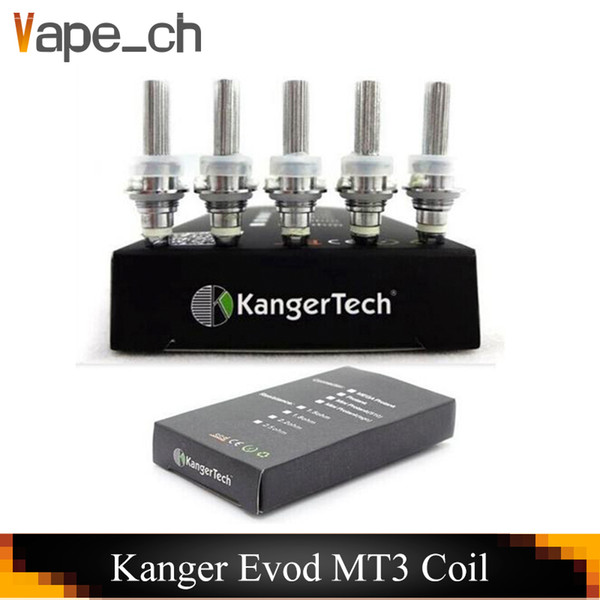 Kanger Evod Mt3 Coil Electronic Cigarette Atomizer Heating Coils 1.8 2.2 2.5 Ohm For Mt3 GS-H2 Mini Protank T3s
