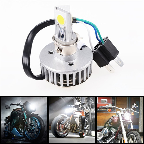 best selling H4 Car Motorcycle 18W 2000LM COB LED High Low Beam Headlight Driving Head Bulb Light Lamp Motorbike silver