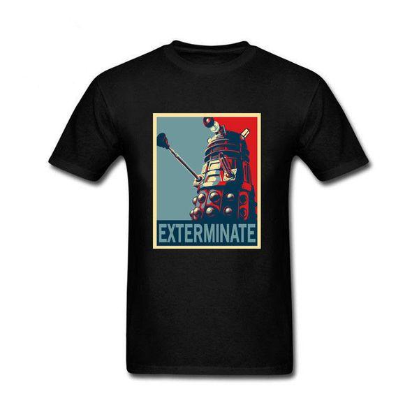 Der Doktor der Männer, der Dr. WHO Daleks, zum Sieg Sitcoms-Baumwollt-Shirts ausrottet Kurze Ärmel Baumwoll-T-Shirt Kostenloser Versand