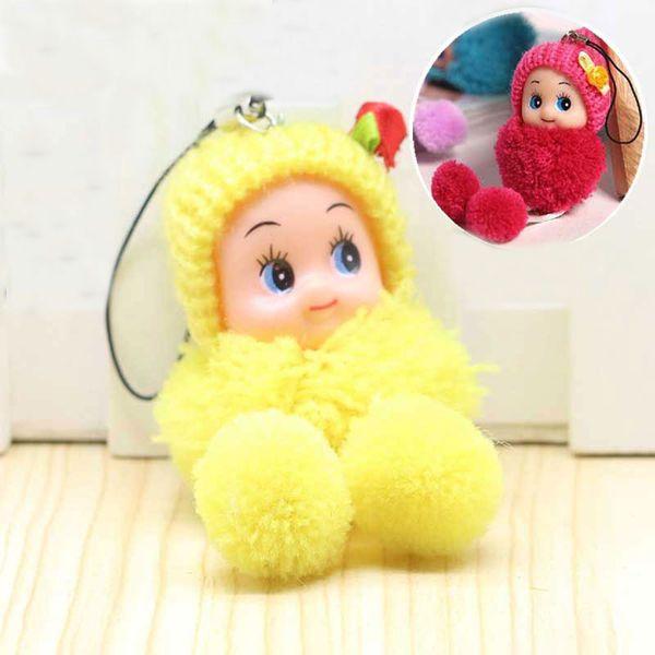 Cute Kids Plush Dolls Cartoon keychain Soft Stuffed Toys keyring Mini Plush  Animals key chain baby 618992eb7