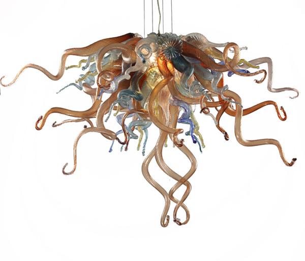 100% Handmade Blown Glass Chandelier Light Mini Cheap High Quality Modern Art Glass LED Chandelier for Bedroom Decor