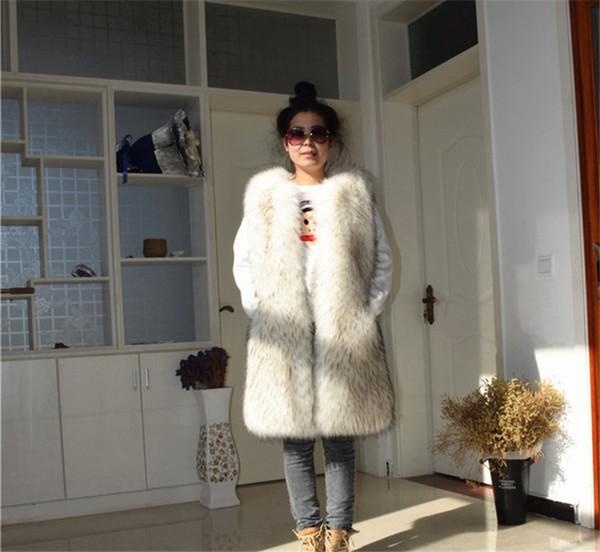 Mulheres Inverno Novo Frete Grátis Raccoon Fur Long Coat