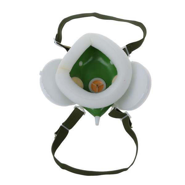 Elastic Strap Double Cartridge Safety Respirator Mask 3 Colors