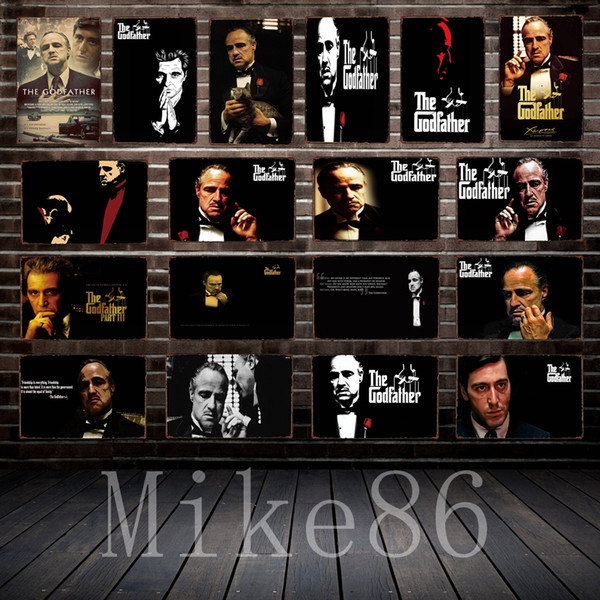 [ Mike86 ] GOD FATHER Tin sign Movie Art wall Posters decor Pub Cafe Bar Party Craft Retro Iron Painting A-254
