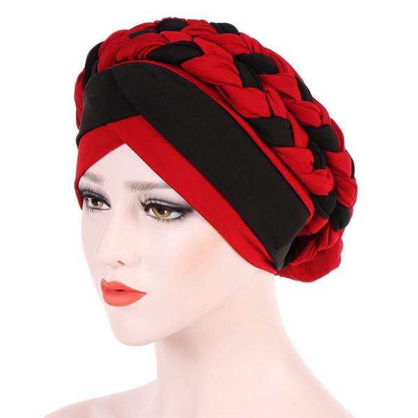 2018 Fashion New Women Hairbraid India Africa Muslim Stretch Turban Cotton Hair Loss Head Scarf Wrap Cap Casual Hot Sale #L26