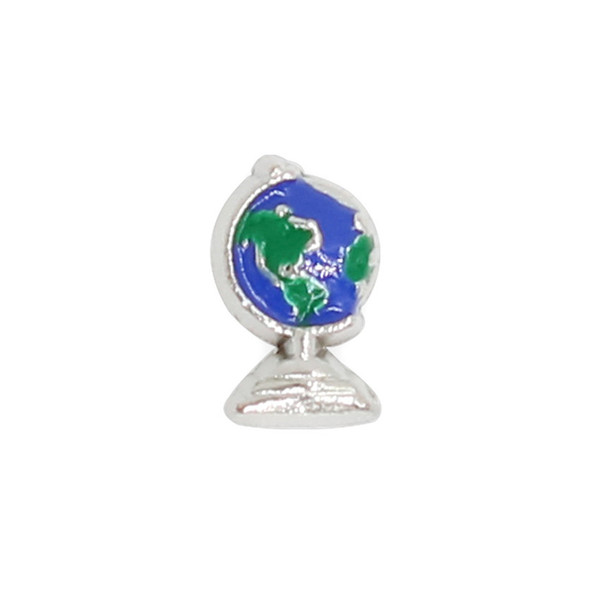 30pcs/lot free shipping globe good quality alloy DIY floating charms for glass living memory locket