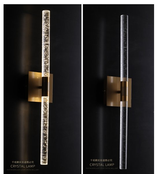 Regron Neuheit Art Deco Innovative Led Bubble Champagner Gold Kristall Wandleuchte Warm Romantik Nachttischlampe Flur BathroomVilla