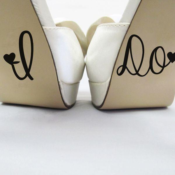 HAGO la decoración de la boda Calcomanía de boda Calcomanías de la taza de zapato - Decoración