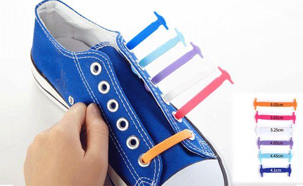 Children no tie shoelaces silicone shoe laces elastic shoe laces for kids trainers shoes canvas Sneakers Fit Strap