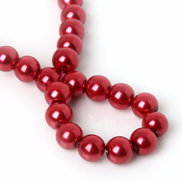 RED VINE Glass Pearl Round Spacer Loose Beads FIT FOR BRACELET NECKLACE JEWELRY MAKING 4mm/6mm/8mm/10mm