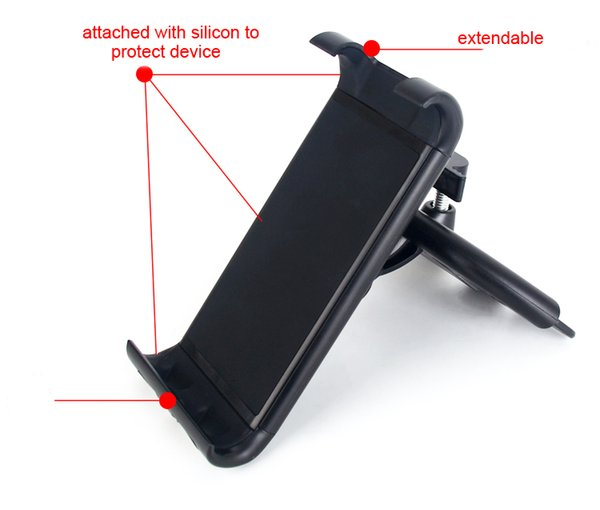 Car CD Slot Player Mobile Phone Holder Stands For Xiaomi Pocophone F1,Mi A2 Lite,For Sony Xperia XZ3/XA2 Plus,ZTE nubia Z18
