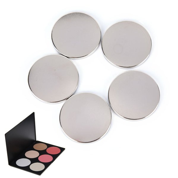 5pcs/15pcs Pink Shiny Gift DIY Refill Empty Magnetic Eyeshadow Palette Concealer Pans With Blush Powder Lipstick Palette