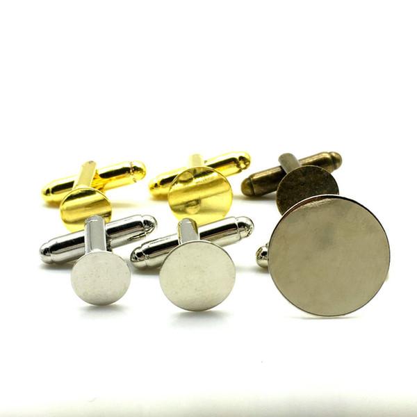 Krawattenklammer-Verkauf geben Verschiffen 100pcs Art- und Weiserunde Metallmanschettenknopf-Rückseiten, Manschettenknopf-Rückseiten-freie Raum-Platten-Entdeckungen Cfflink frei