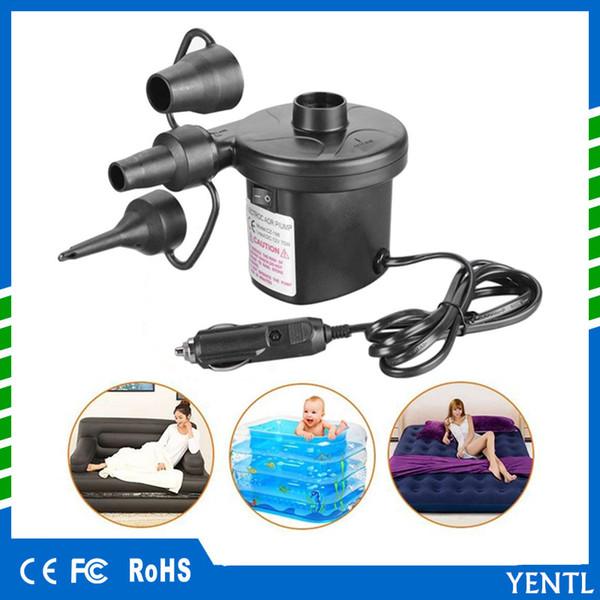 freies Verschiffen yentl Portable DC12V Auto aufblasbare Pumpe Auto Auto elektrische Luftpumpe Inflator elektrische für Camping Bett Matratze Boot Inflator