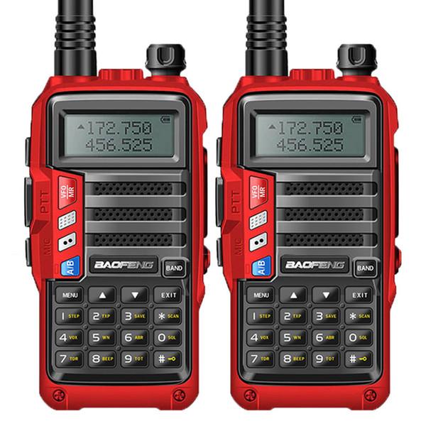 2PCS BaoFeng UV-S9 8W Powerful Walkie Talkie VHF/UHF136-174Mhz & 400-520Mhz Dual Band 10km Long Range Portable CB Two Way Radio