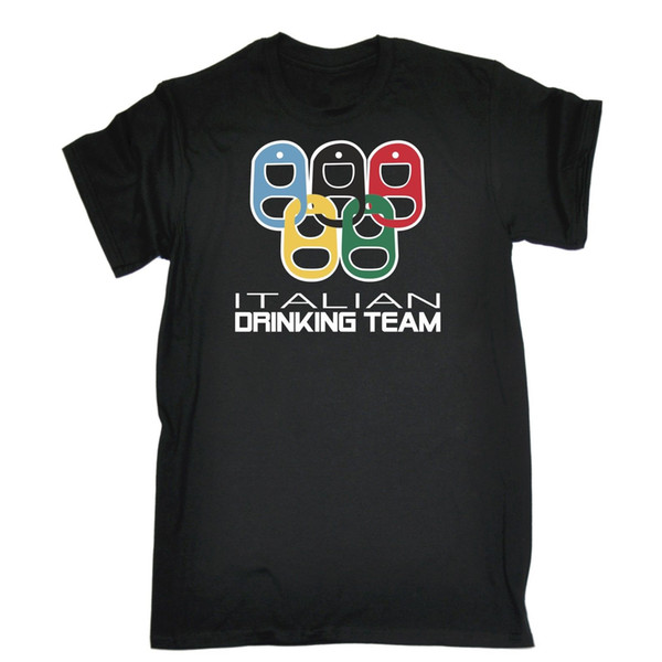 Italian Drinking Team Funny Joke Pub Bar T-SHIRT Birthday gift present joke Cool