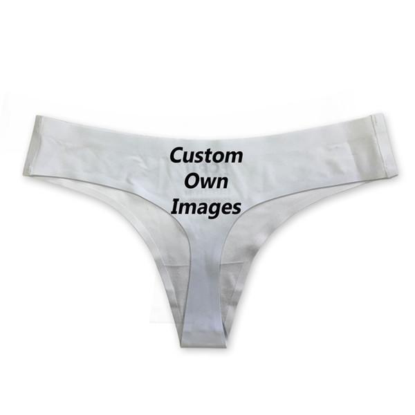 NoisyDesigns Benutzerdefinierte Bilder Drucken Frauen G String Fashion Ladies Invisible Thongs Höschen Atmungsaktive Daunen Aufstieg Traceless Unterwäsche