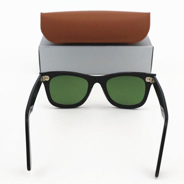 new brand designer luxury txrppr men sunglasses square Plank Black frame Vintage Sun Glasses Oculos uv400 glass lens sunglass with box