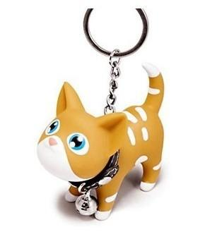 Cute 5 Styles PU Cat Luxury Keychain Acce for Handbag Bag DIY Jewelry Phone Pendant Car Accessories Mothers Day Gift