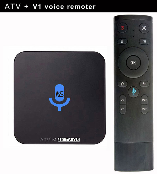 1500+ iptv channels Google Voice Control Android TV Box ATV-M S905X 1G 8G Smart TV Streaming Box Android 6.0 Smart Media Player